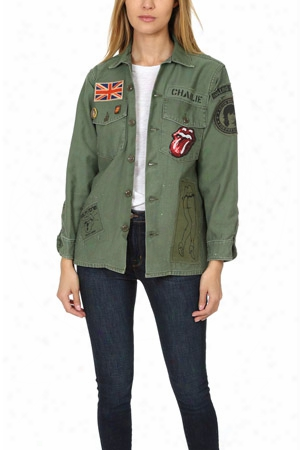 Madeworn Rolling Stones Sequin Army Jacket