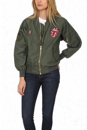 Madeworn Rolling Stones Sequins Bomber Jacket