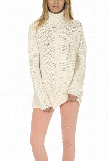 Majestic Filatures Cableknit Turtleneck Sweater