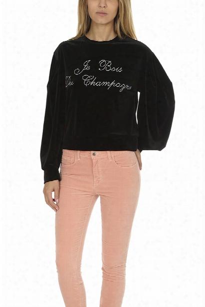 Misa Los Angeles Champagne Velvet Sweatshirt