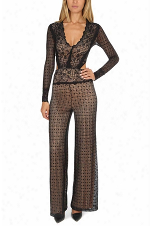 Nightcap Mesh Lace Jumpsuit