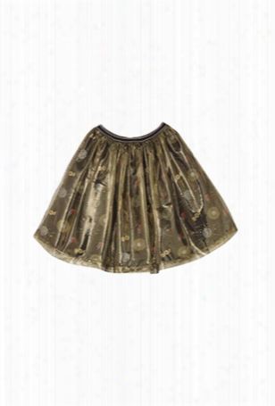Oaks Of Acorn Disco Print Party Skirt