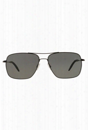 Oliver Peoples Clifton Black Matte / Grey Polarized