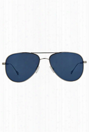 Oliver Peoples West Piedra Silver / Blue Mirror Polarized
