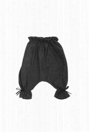 Poeme & Poesie Chambray Ruffle Pants