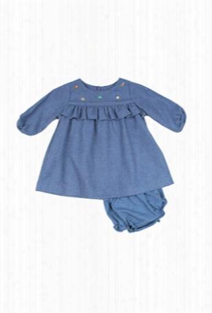 Poeme & Poesie Cotton Embroidered Dress