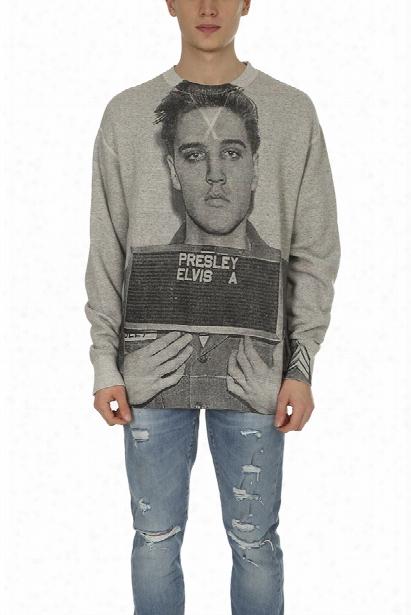 R13 Elvis Mugshot Oversized Sweatshirt