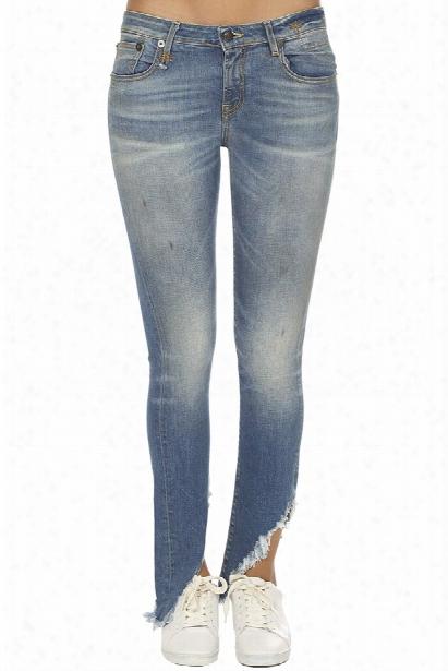 R13 Kate Skinny With Angled Hem