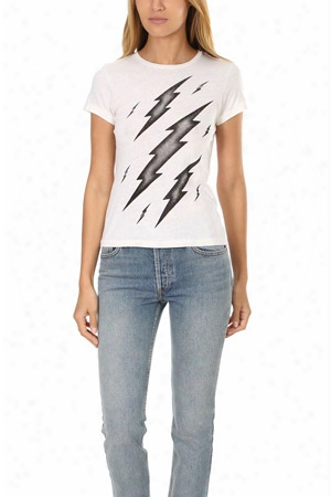 Re/done Thunder Bolts Graphic Slim Tee