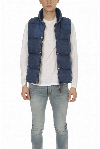 Remi Relief Denim Switching Down Vest