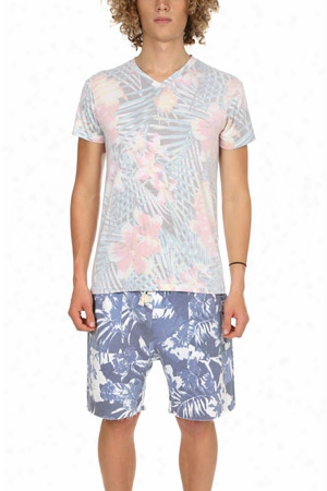 Sol Angeles Botanica V Neck Tee