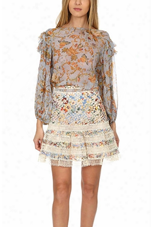 Zimmermann Painted Heart Tier Blouse