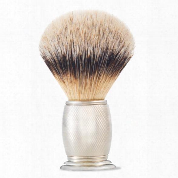 The Art Of Shaving Brush Engraved Nickel S-tip Brush
