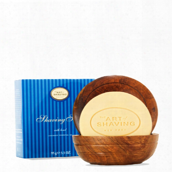 The Art Of Shaving Soap With Wooden Bowl
