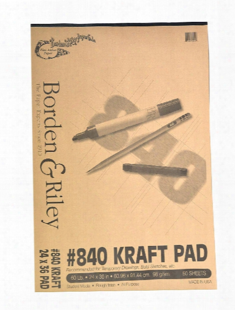 #840 60 Lb Kraft Paper 12 In .x 18 In. 50 Sheets