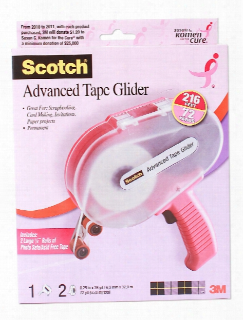 Advanced Tape Glider Tape Glider And Two Refills 1 4 In.