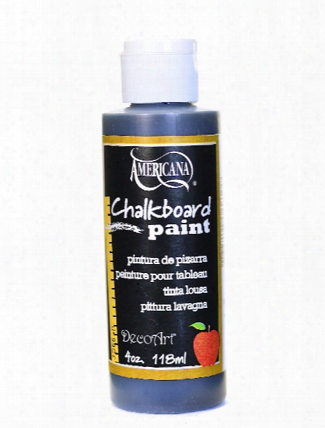 Americana Chalkboard Paint Black Slate 4 Oz.