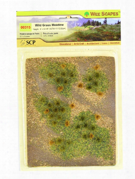 Architectural Model Flowering Meadows Wild Grass Green Meadow Sheet