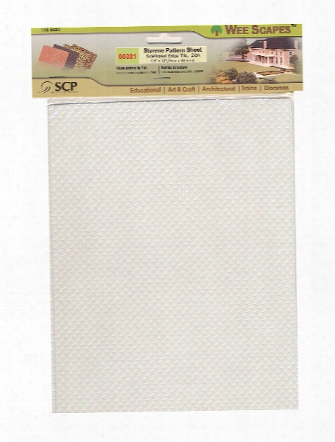Architectural Model Texture Sheets Scalloped Edge Tile 7 1 2 In. X 12 In. Pack Of 2