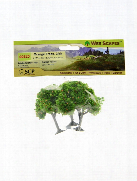 Architectural Model Trees Blossoming Cherry Trees 2 1 4 In. - 2 1 2 In. Pack Of 3