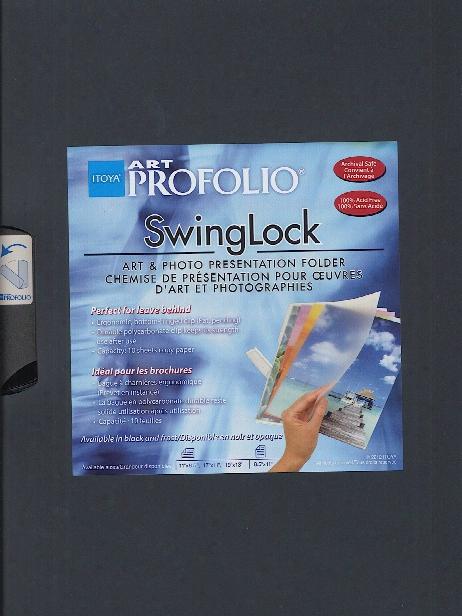 Art Profolio Swinglock Presentation Folder 11 In. X 8 1 2 In. Landscape Black