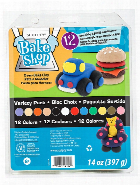 Bake Shop Oven Bake Clay Variety Pack Of 12