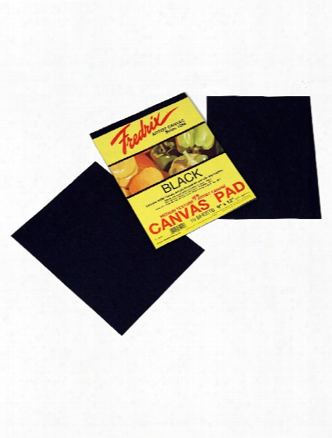 Black Canvas Pads 9 In. X 12 In. 10 Sheets