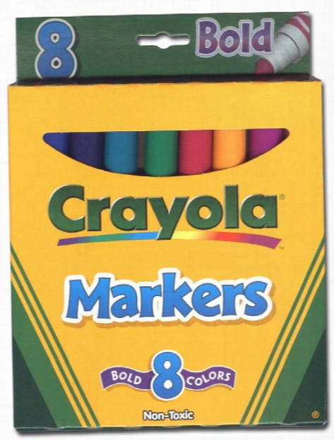 Broad Line Markers - Bold 8 Count Set Of 8