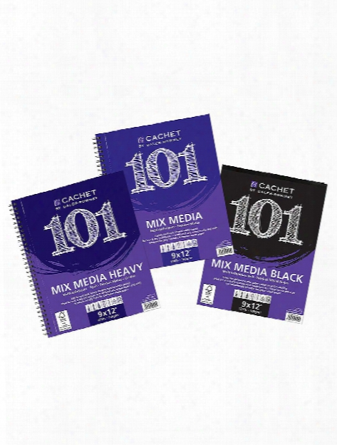 Cachet 101 Mixed Media Pads Spiral 7 In. X 10 In. 60 Pages