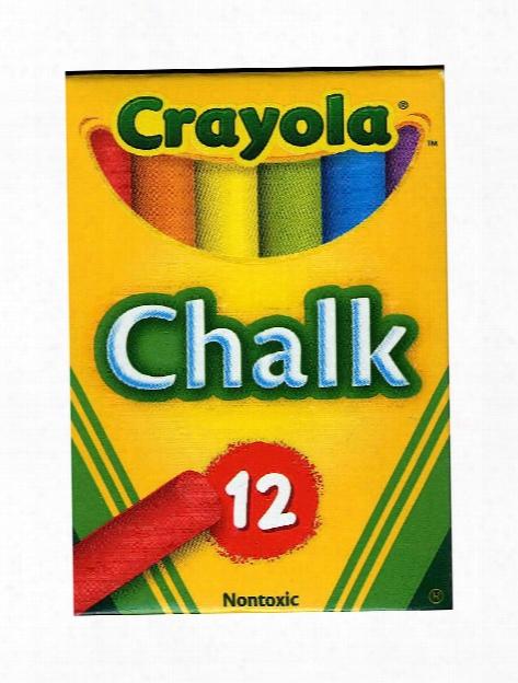 Children's Chalk Assorted Pack Of 12