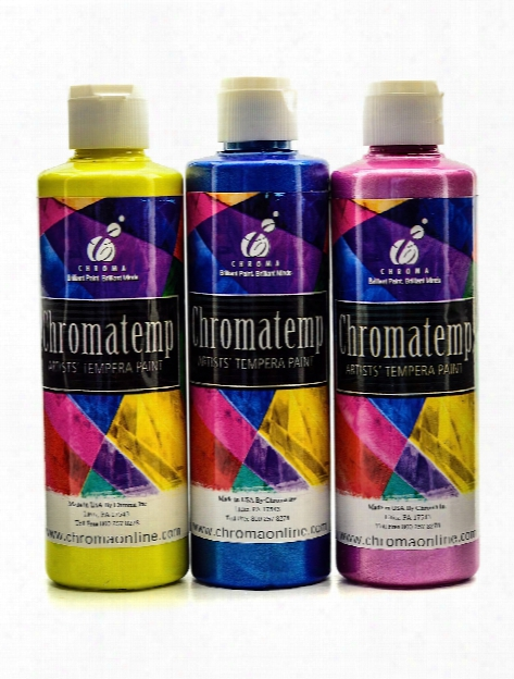 Chromatemp Pearlescent Tempera Paint Yellow 500 Ml