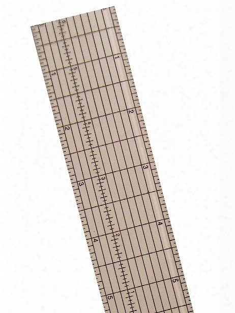 Clear Plastic Grid Rulers 12 1 2 In.