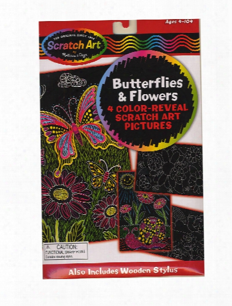 Color Reveal Board Sets Butterflies & Flowers Pack Of 4