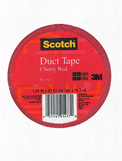 Colored Duct Tape Red 1.88 In. X 20 Yd. Roll