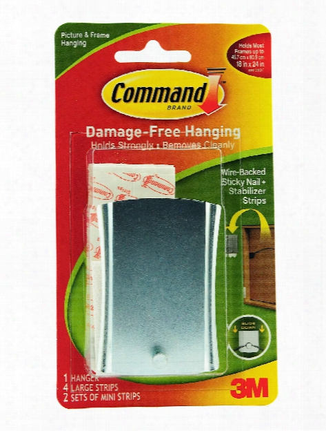 Command Sticky Nail Wire-backed Metal Hanger Each