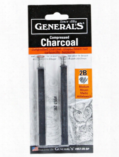 Compressed Charcoal Squares 2 Packs 2b