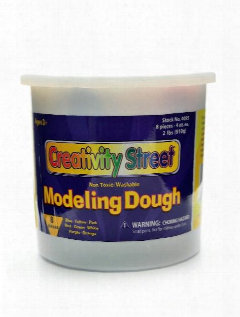 Creativity Street Modeling Dough Bucket Of 8 Assorted 4 Oz.