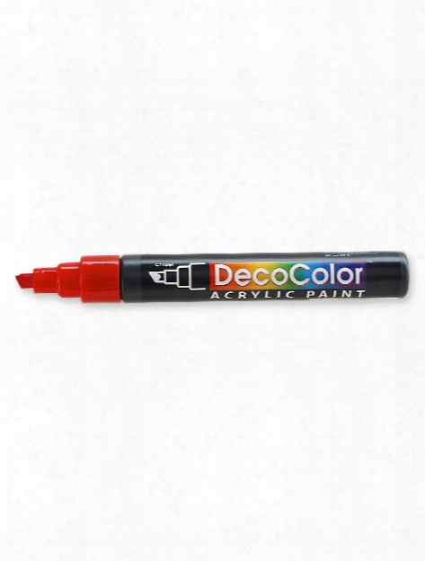 Decocolor Acrylic Paint Markers Metallic Red Chisel Tip