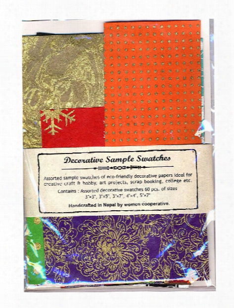 Decorative Paper Sample Swatches Pack Of 60