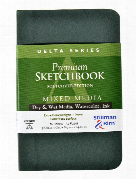 Delta Series Softcover Sketchbooks 3.5 In. X 5.5 In. Portrait 56 Pages