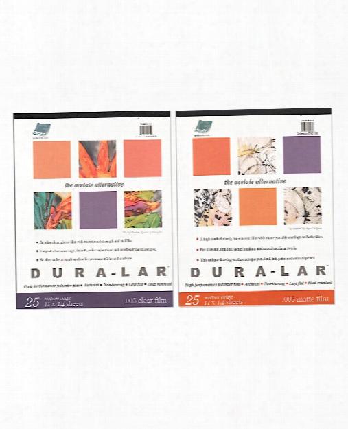 Dura-lar Acetate Alternative Pads Clear 9 In. X 12 In.