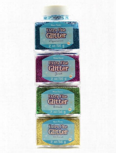 Extra Fine Glitter Sterling 2 Oz. Stackable Jar