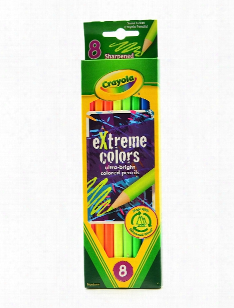 Extreme Colors Pencils Set Of 8