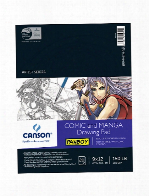 Fanboy Comic And Manga Drawing Pad 9 In. X 12 In.
