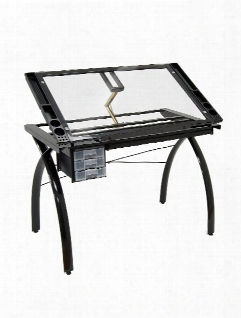 Futura Craft Station Craft Station 43 In. W X 24 In. D X 31 1 2 In. H Black Clear