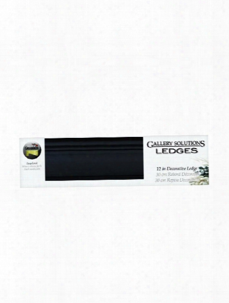 Gallery Solutions Ledges Black 24 In. Gallery
