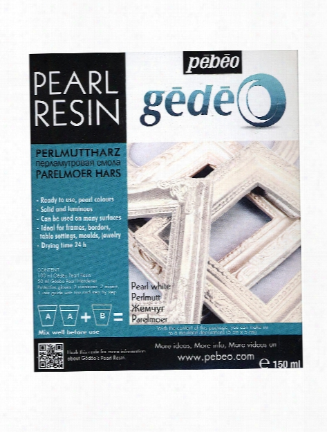 Gedeo Pearl Resins Pearl White 150 Ml