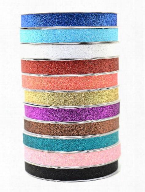 Glitter Tape 3 8 In. Chestnut 3 Yd. Spool