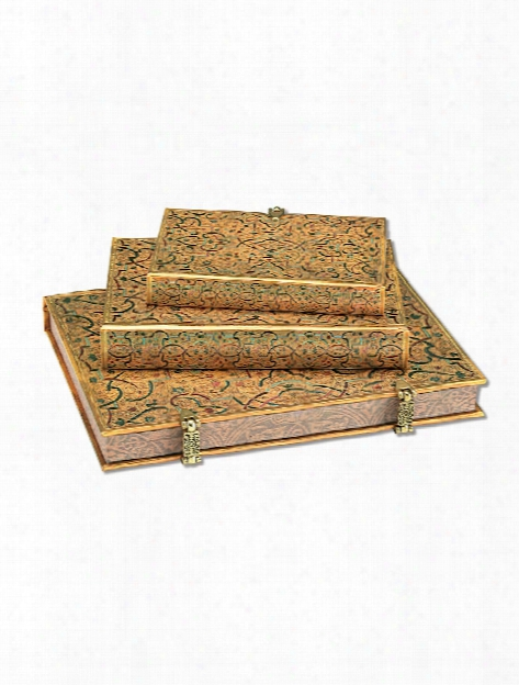 Gold Inlay Journals Ultra 7 In. X 9 In. 240 Pages, Lined