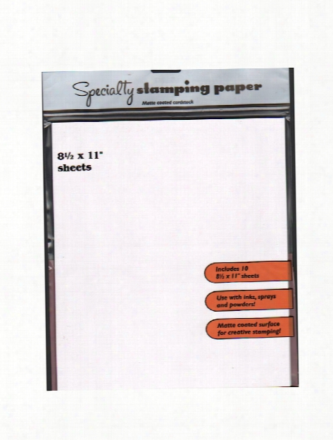 Inkssentials Specialty Stamping Paper 8 1 2 In. X 11 In. Pack Of 10 Sheets